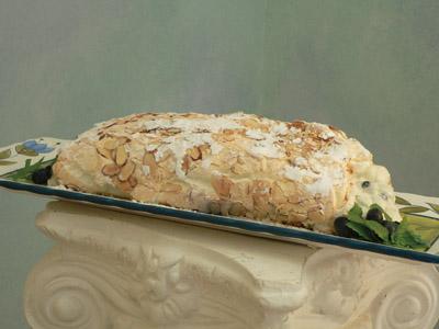 White Chocolate Pavlova Roulade with Berries